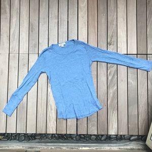 Orvis | Blue Long Sleeve Model Cotton Blend Shirt
